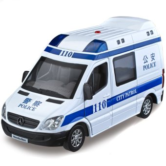Harga Color Amber sound and light version of alloy children's toy car ambulance car