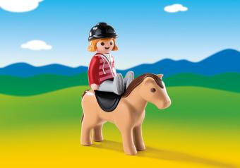 Harga Playmobil 6973 1.2.3 Equestrian With Horse
