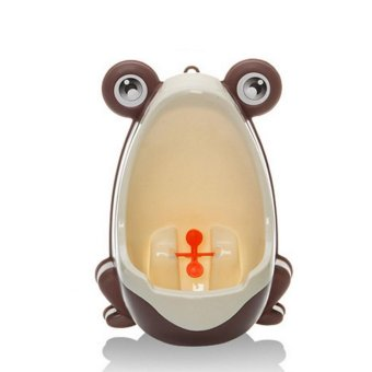 Harga BolehDeals Toddler Boy Portable Toilet Frog Potty Urinal Stand Up Pee Wee Training-Gray(Export)