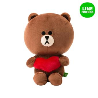 Harga LINE CUDDLE DOLL 25cm_BROWN (HEART)
