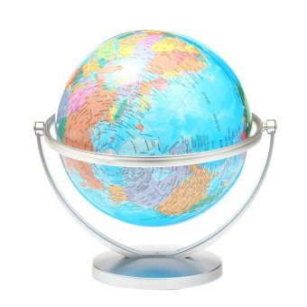 Harga WORLD GLOBE Rotating Swivel Map of Earth Atlas Geography - intl