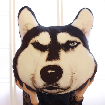 Harga Doge God annoying dog pillow dog's head plush toy husky hand warmer cushion Samoyed can be washable gift female