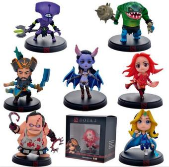 Harga 7pcs/Set DOTA 2 Game Figure Kunkka Lina Pudge Queen Tidehunter CM FV PVC Action Figures Collection Dota2 Toys