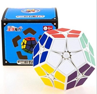 Harga Shengshou 2x2 Megaminx Speed Cube Dodecahedron Puzzle Cube Brain Teaser (White) - intl