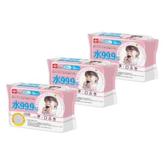 Harga LEC (Hand & Mouth) 99,9% Pure water wipes 80s (9 pack)