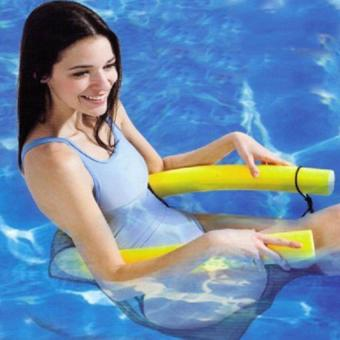 Harga 6.5*50Cm Pool Water Entertainment Activities Toy Floatingswimming Chair (Yellow)