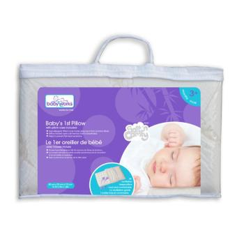 Baby Works Baby's 1st Pillow with Bamboo Pillowcase