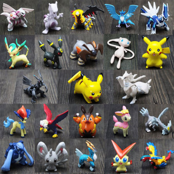24Pcs For Pokemon Action Figures Toys Cartoon Anime Mixed Gifts For Children