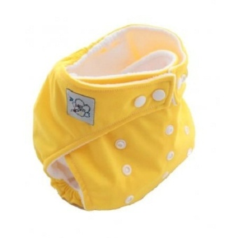 Harga PAlight Baby Adjustable Soft Nappy Cloth Diapers Covers (Yellow)