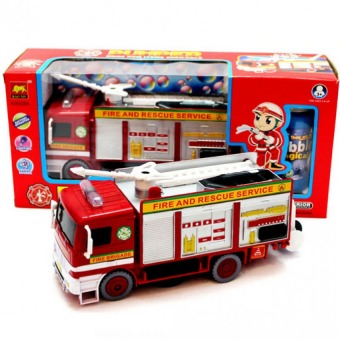 Harga Bubble car fire engine model universal automatic blowing bubble machine light music vehicle model toy Diecast Metal gift for boy