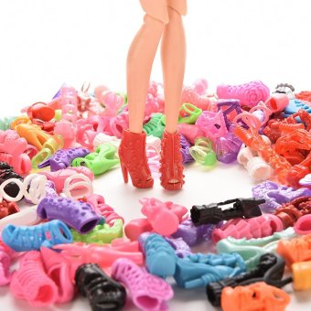 Harga Doll Shoes Multiple Styles For Barbie 60 Pairs 60Pairs - intl