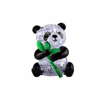 Harga Coolplay CP9055 3D Lovely Panda Crystal Puzzle Jigsaw DIY IQ Toy Kids Gift Game Black+White - intl