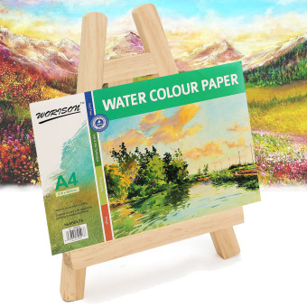 New Small Pine Wood Easel Wooden Desktop Display Painting Magazine Show Stand - intl