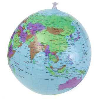 Harga 40cm Inflatable World Earth Globe Atlas Map Beach Ball Geography Education Toy - Intl