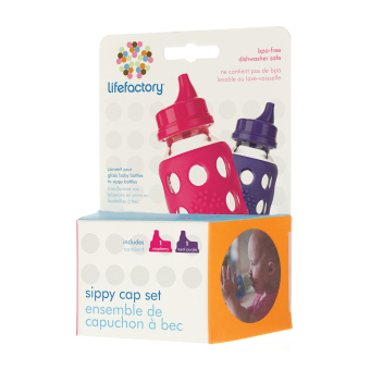 Harga Lifefactory Accessories - Sippy Cap (Raspberry & Royal Purple)
