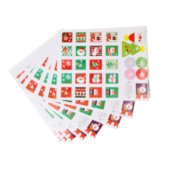 Harga MagiDeal 10 sheets of Christmas Adhesive Stickers for Card Making