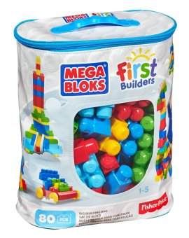 Harga Mega Bloks First Builders Big Building Bag, 80-Piece (Classic)