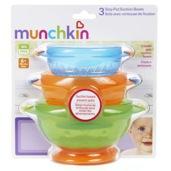Harga Munchkin Stay Put Suction Bowls Pack