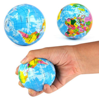 Harga World Map Foam Earth Globe Stress Relief Bouncy Ball Geography Learning Toy - intl