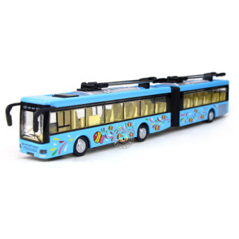 Harga City bus bus bus alloy car models double extended simulation open the door toy car boy new