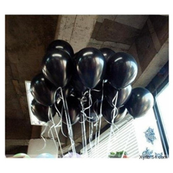 Harga 100pcs 10inch dark black strange balloon Surprising ballon wedding decration(color:Black) (Intl) - Intl