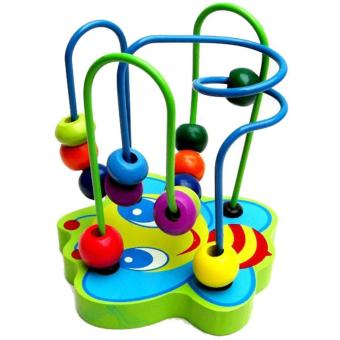 Colorful Wooden Multi Track Bead Maze Game Children Development Toy - intl