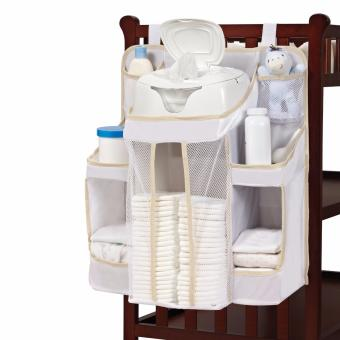 Harga [White] Hanging Diaper Bag Organizer Nursery Anywhere Cot Crib Bed Table Changing Clothes Baby Infant New Born Gift Shower Playpen Play Pen Playard Pad Wall Hanger