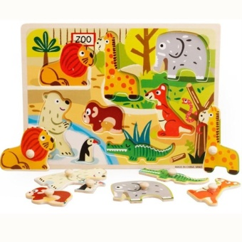 Harga Animals Wooden Puzzles for Children 3d Puzzle Jigsaw Board Educational Toys for Kids Learning - intl