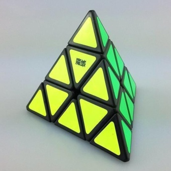 Harga 360WISH MoYu Triangle Pyramid Pyraminx Magic Cube Toy Black (EXPORT)