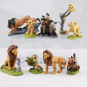 Harga 9pcs/set The Lion Guard Lion King Simba Kion Bunga Beshte Fuli Ono PVC Action Figures Animals Figurines Statue Kids Toys Gift - intl