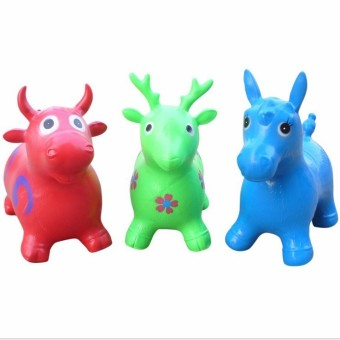 Harga Cute Inflatable Jumping Animal Horse/Deer Bouncing Hopping Toy For kids Indoors - Intl