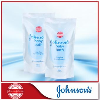 Harga Johnson's Baby Regular Bath Refill 600ml x 2pcs