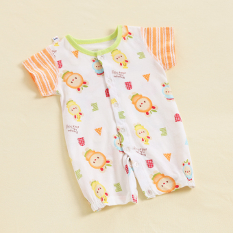 Yuet infant baby coveralls summer men and women baby climbing clothes romper pajamas summer newborn children clothes thin section