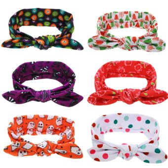 Harga Baby lily Bear Fashion 6pcs Baby Girls Cute Headbands Head Bands - intl