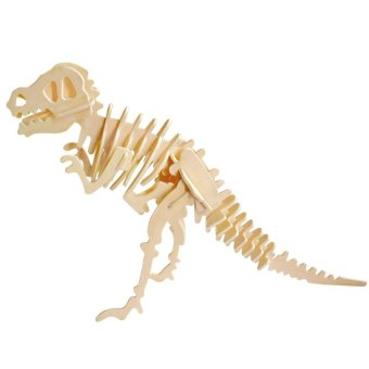 Harga Robotime 3D Puzzle Dinosaur Style Wooden Educational Toy For Kids(Beige) - intl