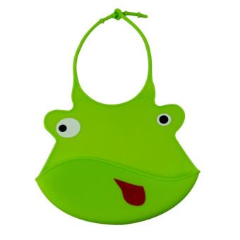 Harga Lovely Infant Baby Kids Silicone Cartoon Bib Baby Lunch Feeding Bibs Waterproof - intl