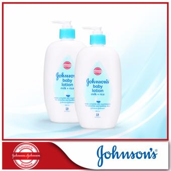 Harga Johnson's Baby Milk+Rice Lotion 500ml x 2pcs