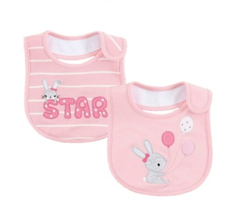 Harga Mom And Bab Baby Bibs 2pk - Bunny