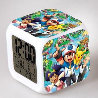 Harga Smart LED Cute Colour Changing Alarm Clock with Pokemon Characters