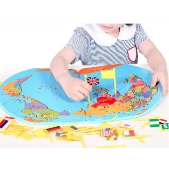 Harga Educational World Map Jigsaw for Kids