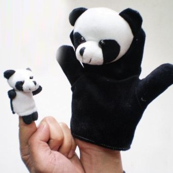 Harga 2Pcs Finger Even, Storytelling, Good Toys, Hand Puppet for Baby's Gift Black - intl