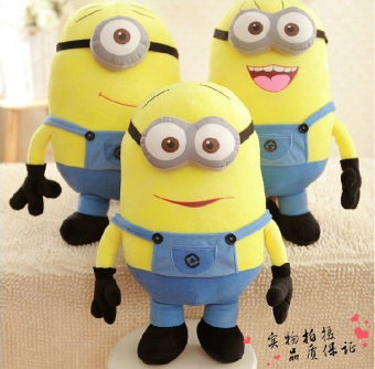 Harga 50CM 3 Styles Soft Stuffed Plush Toys Kids Toy Despicable Me Movie Minions Birthday Gift for Child Christmas Gift Baby Doll - intl