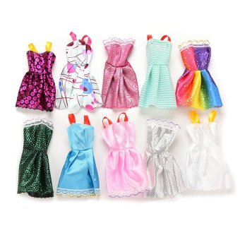 Harga Fashion Handmade Dresses Clothes For Barbie doll 10Pcs - intl