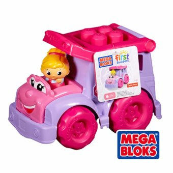 Harga Kids Gift Play Mega Bloks blocks First Builders and Learn-School bus Rachel(9pcs) - intl
