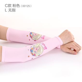 Harga Barbie girls ice thin section of ice silk summer sunscreen gloves long section of korean children princess sleeve arm cuff baby
