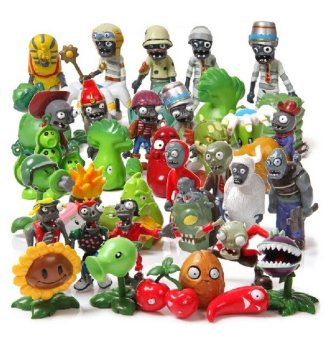 Harga 40Pcs/Set Plants vs Zombies Toy 3-7cm PVZ Collection Plant Zombine Figure Toys Gift - intl