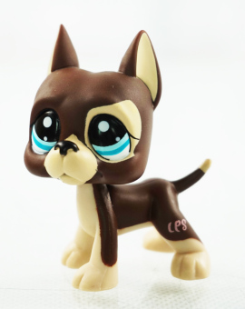 Harga Brown Great Dane Dog Dot Eyes Kids Toys Blue Eyes Littlest Pet Shop LPS 1519 - Intl