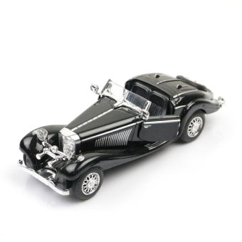 Harga Sheng alloy classic car model benz 500 k bugatti 57sc with light and sound toys for children gift