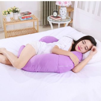 Harga Body Pregnancy Support Pillow Breastfeeding Cotton Maternity Pillow Twin Baby Infant Nursing Pillows Women Pregnant Sleep (Purple)
