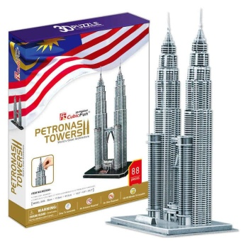 Harga Sam The Famous Building Malaysia Twin Tower 3D Puzzle - intl